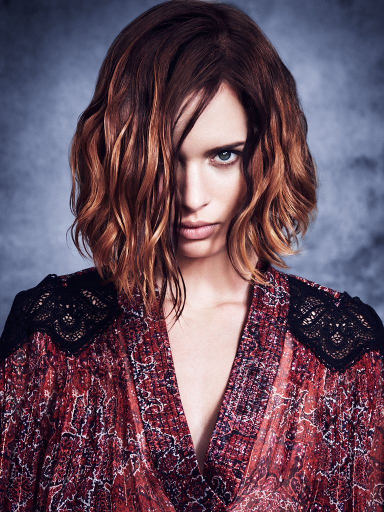 dramatic hair style by Michael Leonards